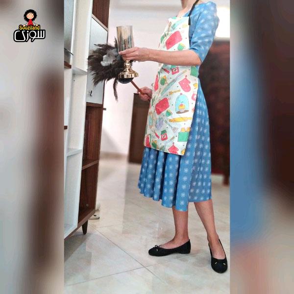 پیش بند آشپزخانه سوزی کد 1010