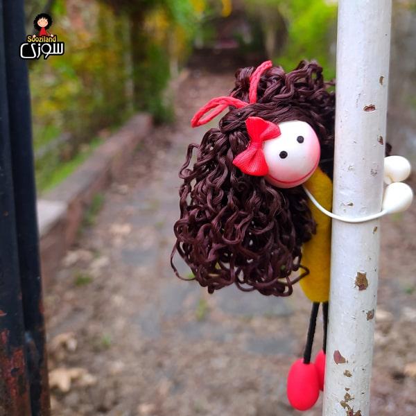 عروسک سوزی آویز مدل نیلا